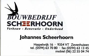Bouwbedrijf Scheerhoorn