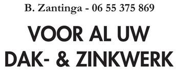 B. Zantinga. Voor al uw dak- en zinkwerk